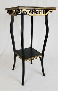 Vintage Neo Classical Hall Table Plant Stand With Stick And Ball Trim Victorian