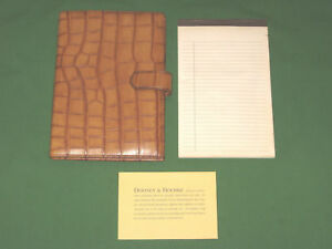 5x8 Note Pad Reptile Leather Dooney And Bourke Planner Classic Franklin Covey
