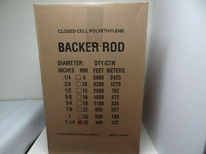 1 1 4 Closed Cell Foam Backer Rod 400 Ft Expansion Joint