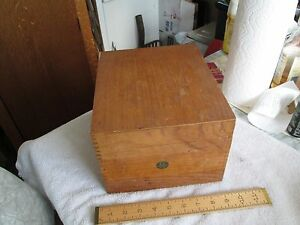 Oak Globe Wernicke File Box 6 1 2 X 8 1 2 X 10 Deep Vgc