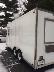 White Concession Nation Professional 8 x18 Food kitchen Fully Built out Trailer
