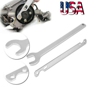 2pcs Set 32mm Automotive Fan Clutch Nut Wrench Water Pump Holder Tool For Bmw