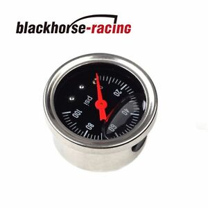 Universal Black Adjustable Fuel Pressure Regulator Gauge With 0 100 Psi New
