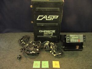Christie Analyzer charger Battery Pp 8333 u Casp 2000 6 Channel Military Used
