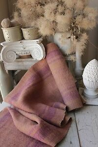 Hemp Fabric Antique Table Stair Runner Natural Handwoven 4 2 Yards Dyed Textile