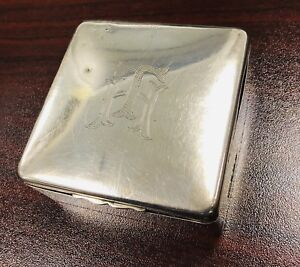 Sterling Silver Cigarette Box Art Deco Style Birmingham 1932