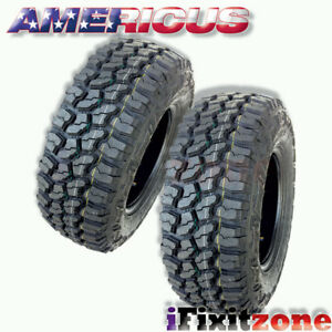 2 Americus Rugged Mt 3110 50r15lt 109q C 6 All Terrain Mud Tires