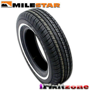 1 Milestar Ms775 P215 70r15 97s white Wall All Season Tires New