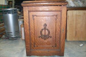 Antique Wheeler Wilson W9 Treadle Sewing Machine With Oak Parlor Cabinet