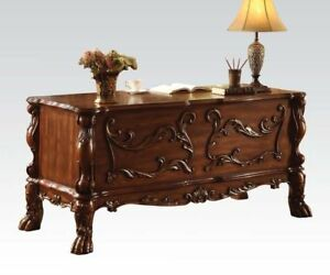 Acme Furniture Dresden Traditional Design Decorative Carved Office Desk 12169
