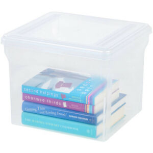 Iris Letter Size Hanging File Cube Storage Plastic Box Clear Set Of 6
