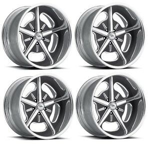 Pro Wheels Hot Rod 18 Polished Aluminum Billet Wheels Rims Foose Intro Boyd
