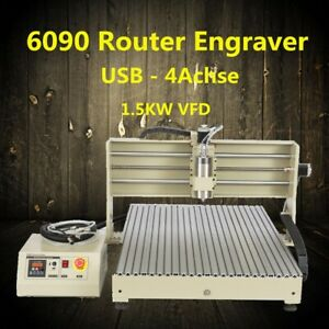 Engraver Usb 4 Axis 6090 Router Engraving Machine Desktop Drilling 3d Cutter