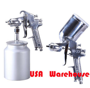 Gravity Suction Feed 2 5mm Air Sprayer Gun 1000ml Auto Compressor Tools Bottle