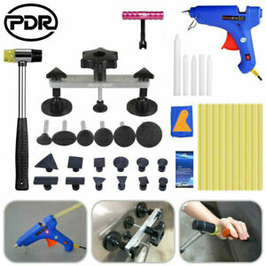 Auto Car Body Hail Paintless Dent Removal Kit Glue Gun Puller Tabs Pdr Tool Us