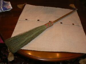Vtg Small Hearth Broom Twig Stick Wood Handle Farmhouse Decor