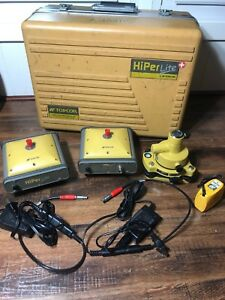 Topcon Hiper Lite Plus Set Gps Receivers Base And Rover Pack Gps L1 L2