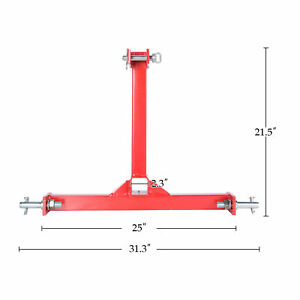3 Point 2 Receiver Trailer Hitch Cat 1 Tractor Tow Drawbar Adapter New Red