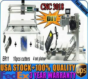 Cnc3018 3axis Mini Router Wood Milling Engraving Carving 3d Cutting Machine