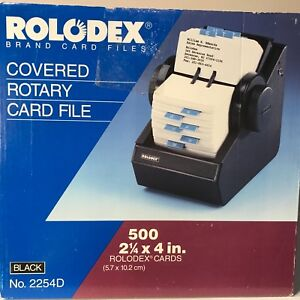 New Rolodex Covered Rotary Card File Locks W 2 Keys 500 2 25x 4 Cards 2254d