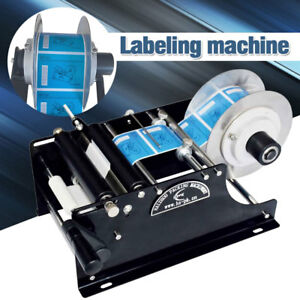 Manual Labeling Machine Round Bottle Packing Machinery By Hand Semi Automatic