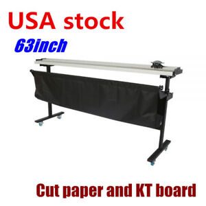 Usa Stock 63 Manual Large Format Paper Trimmer Cutter With Support Stand