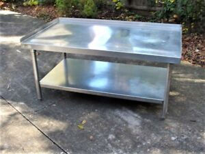 All Stainless Steel Equipment Stand Table 54 W X 32 D X 25 H Grill Deep Fry