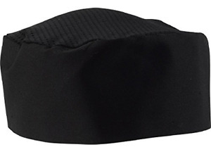 Black Chef Hat Adjustable One Size Fit Most 12