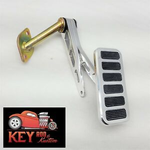 Polished Billet Aluminum Throttle Gas Pedal 1955 66 Chevy Bel Air 56 57