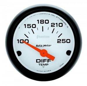 Differential Temp Gauge 5749 100 250 Degrees Auto Meter Phantom Series