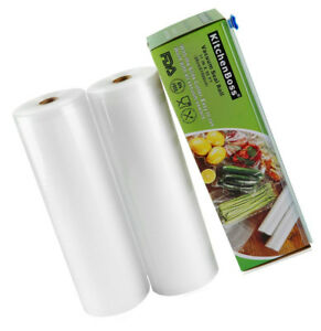 Vacuum Sealer Rolls With Cutter Box 2 Pack 11 x50 Kitchenboss Commercial Grade