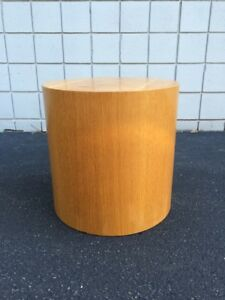 Paul Mayen Habitat International Intrex Mid Century Pedestal Drum Side Table