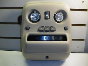 2002 Chevy Avalanche Overhead Console Homelink Maplights Lt Shale 15769386