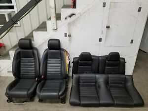 2013 2014 Ford Mustang Gt cs Front Rear Leather seats Set Oem
