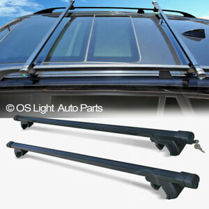 Roof Rail Rack Crossbars Top Luggage Carrier Cargo Bars Lock Set For Jeep