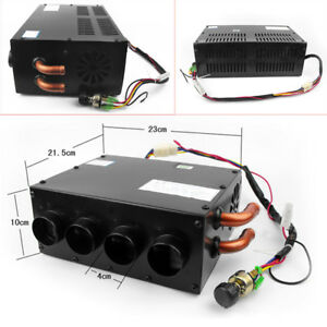 12v Vehicle Underdash Compact Air Heater Heat Speed Switch Defroster Demister