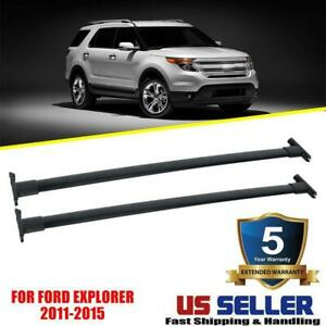For 2011 2012 2013 2014 2015 Ford Explorer Top Roof Rack Cross Rail Bar Oe Style