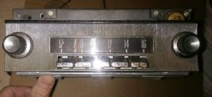 Vintage Ford Fomoco Car Radio Silver Push Button 78mf