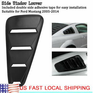 Black Left Right Side Window Louver Scoop Cover Vent For Ford Mustang 2005 14