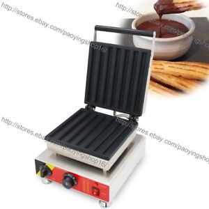 Commercial Nonstick Electric 23cm Baked Churro Maker Machine Iron Baker