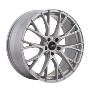 Konig Interflow Rim 19x8 5 5x112 Offset 45 Metalic Silver quantity Of 4