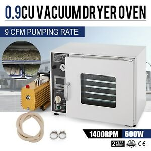 0 9cf Vacuum Oven W Easyvac 9cfm 2 stage Pump 5 sided Ul csa Certified 110v
