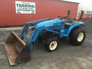 1999 New Holland 1925 4x4 Compact Tractor W Loader Needs Work Read Description