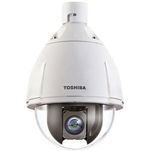 Toshiba Ik wp41a High speed Ptz Dome Camera With Poe Injector And Pendant Mount