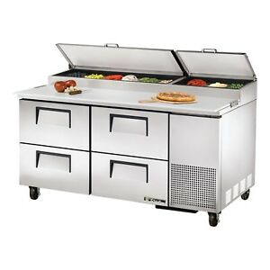 True Tpp 67d 4 67 4 Drawer Refrigerated Pizza Prep Table 20 6 Cu Ft