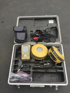 Pre owned Topcon hiper Ii u Dual Base And Rover Receiver Kit W data Collector