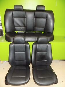 01 Bmw 325i Sedan E46 Oem Black Leather Seats No Power Front Rear