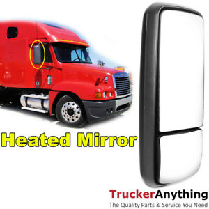 Heated Mirror 05 11 Freightliner Century Right Passenger Manual Rear View Black