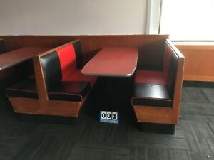 Restaurant Booths Uph Seat back45 60 Deep W 27 Wide Laminate Top 001 2