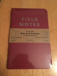 Field Notes Arts Sciences Edition Summer 2014 Sealed